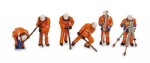 Bachmann Scenecraft 36-050 OO Permanent Way Workers(6)